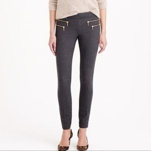 J Crew Zippered Minnie Wool Pants